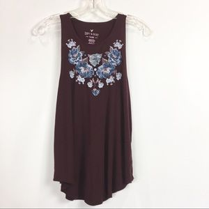 American Eagle Embroidered Soft and Sexy Tank Top